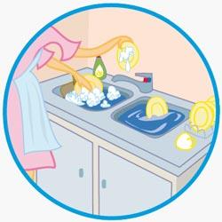 Les bons gestes : la vaisselle