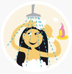 Les bons gestes : douche